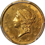 1849-C Type 1 Liberty Gold $1 Closed Wreath PCGS Nice UNC Details Key Date