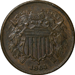 1864 Two (2) Cent Piece