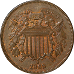 1865 Two (2) Cent Piece