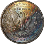 1904-O Morgan Silver Dollar Rainbow Toning Nice BU+ Great Eye Appeal Nice Strike