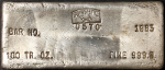 Sunshine 100 Ounce Poured Silver Bar 999.5 Fine - Scarce 1983 Bar - #0570