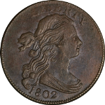 1802 Large Cent 1/000 Choice AU/BU Details S.228 R.2 Great Eye Appeal