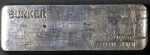 Vintage Bunker 100 Ounce Poured Silver Bar 999 Fine