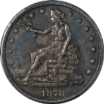 1878-CC Trade Dollar PCGS AU Details Nice Eye Appeal Strong Strike