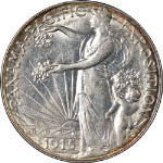 1915-S Panama-Pacific Commem Half Dollar Nice BU+ Great Eye Appeal Nice Strike