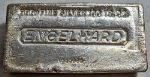 Vintage Engelhard 100 Ounce Poured Silver Bar .999+ Fine Serial W115685