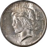 1923-S Peace Dollar PCGS MS64 Great Eye Appeal Strong Strike