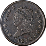 1810 Large Cent PCGS XF Details S.282 R.2 Nice Eye Appeal Strong Strike