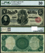 FR. 81 $5 1880 Legal Tender VF30