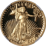 1988-P Gold American Eagle $10 NGC PF70 Ultra Cameo Brown Label