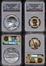2015 Harry S. Truman Coin & Chronicles Set Medal & Reverse Proof NGC PF/MS 69