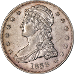 1838-P Bust Half Dollar Reeded Edge Choice AU Great Eye Appeal Strong Strike