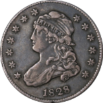 1828 Bust Quarter Choice AU Superb Eye Appeal Strong Strike