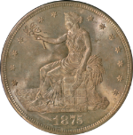 1875-S Trade Dollar PCGS MS64 Old Green Holder