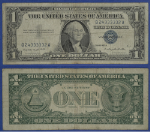 FR. 1620 $1 1957 Silver Certificate Q24333332A Very Good