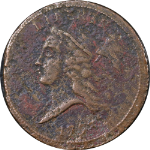 1793 Half Cent VF+ Detail C-1 R.3 One Year Type Coin