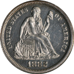 1882 Seated Liberty Dime Nice PR