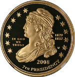 2008-W First Spouse Gold $10 Jackson's Lib NGC PF69UC