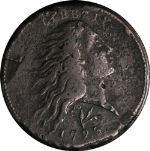 1793 Large Cent VF/XF Detail VINE + BARS S.11A R.4+