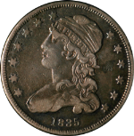1835 Bust Quarter Nice XF Great Toning