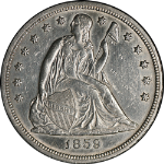 1859-S Seated Liberty Dollar AU/BU Detail Key Date Don't Miss This One