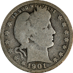 1901-P Barber Quarter G Nice Color and Surfaces Nice Eye Appeal