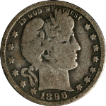 1896-O Barber Quarter Nice VG Nice Color and Surfaces
