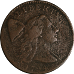 1794 Large Cent VF Detail Head of 1794 Flowing Hair Variety Nice Brown Color