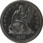 1861-P Seated Liberty Quarter Proof Nice Eye Appeal CIVIL WAR DATE