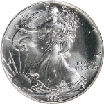 1992-P Silver American Eagle $1 NGC MS69
