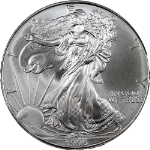 1996 Silver American Eagle $1 NGC MS69
