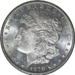 1878-CC Morgan Silver Dollar PCGS MS62  BRIGHT WHITE Nice Luster
