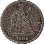 1886-P Seated Liberty Dime
