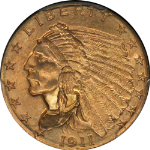 1911-P Indian Gold $2.50 PCGS MS64  NICE EYE APPEAL  Spot-Free
