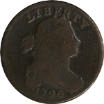 1796 Large Cent Nice VG  LIHERTY Error  S.104 R.3+  Nice Eye Appeal