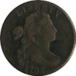 1798 Large Cent Nice XF Detail  STYLE 2 HAIR  Nice Strike