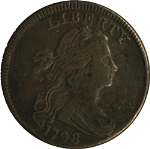 1798 Large Cent VF/XF Detail  Decent Eye Appeal  S.157 R.2  STYLE 1 HAIR