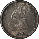 1876-P Seated Liberty Quarter Nice BU+  Nice Luster  Nice Color