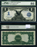 FR. 236 $1 1899 Silver Certificate Choice PMG UNC64EPQ