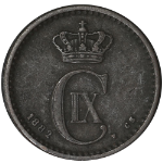 1882 - Denmark 1 Ore KM 792.1 Very Nice Color and Surfaces Choice VF