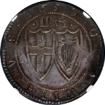 1653 England 1/2 Crown ESC-431 NGC MS63 Great Eye Appeal Iridescent Toning