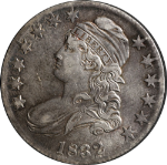 1832 Bust Half Dollar AU/BU Detail O-105a R.3 Just a trace of rub