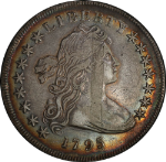 1795 Bust Dollar Nice XF Detail Small Eagle Very Attractive Album Toning