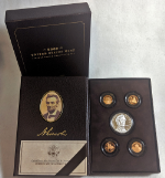 2009 Proof Lincoln Coin & Chronicles Set Silver Commem Dollar & 4 Cents OGP COA