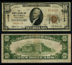 Bluefield WV $10 1929 T-1 National Bank Note Ch #11109 Bluefield NB Fine+