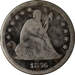1876-S Seated Liberty Quarter
