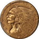 1910 Indian Gold $2.50 PCGS MS64 Wonderfully Original Fresh and Crispy