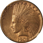 1908-S Indian Gold $10 NGC AU55 Nice Eye Appeal Nice Strike Problem-Free
