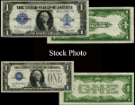 1923 & 1928 $1 Silver Certificate, 2 Piece Set (Changing Times) - Stock Item