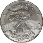 2007-W Silver American Eagle $1 PCGS SP69 Burnished - Stock Item